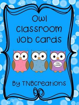 Owl Classroom Job Cards