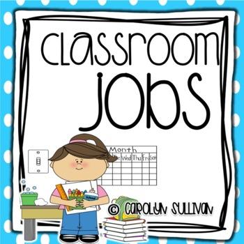 Classroom Jobs - Polka Dot Theme