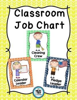 Classroom Jobs {Rainbow Arrow Chevron}