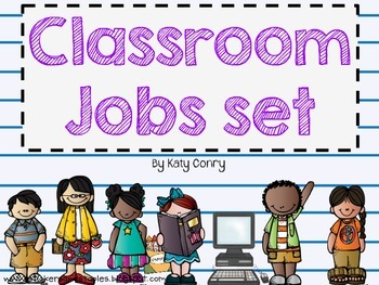 Classroom Jobs Set: 33 Labels (Melonheadz Kids)