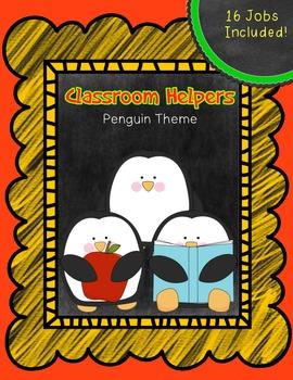 Classroom Jobs Signs/ Classroom Helper Signs ~ Chalkboard