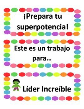 Classroom Jobs: Spanish