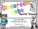 Classroom Jobs - Sports Themed Rounded Rectangle Chalkboar