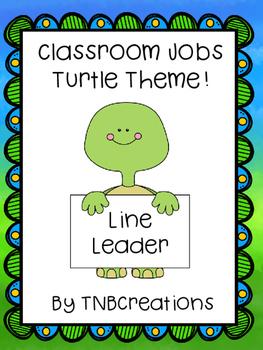 Classroom Jobs Turtle Theme