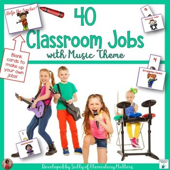 Classroom Jobs With a Music Theme