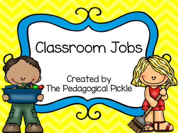 Classroom Jobs -- Yellow & Blue Color Schemee