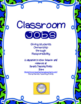 Classroom Jobs and Routines-- Teacher Organization PLUS Ma