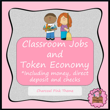 Classroom Jobs and Token Economy - Charcoal Pink