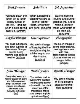 Classroom Jobs, descriptions, and applications