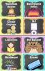 Classroom Jobs in BRIGHT Polka Dot & Chalkboard and EDITAB