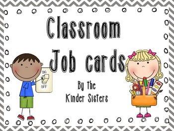 Classroom Jobs in Gray Chevron