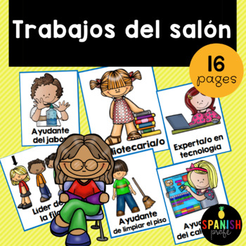 Classroom Jobs in Spanish (Trabajos / Ayudantes del salon)
