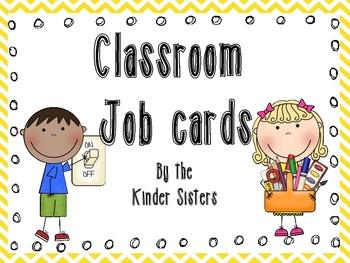 Classroom Jobs in Yellow Chevron