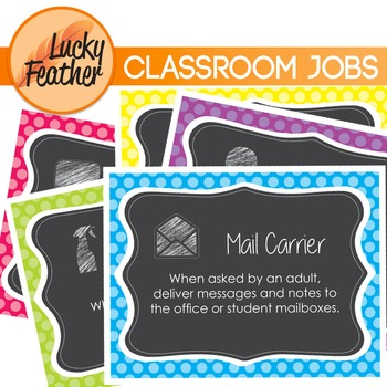 Classroom Jobs - posters, cards and icons!