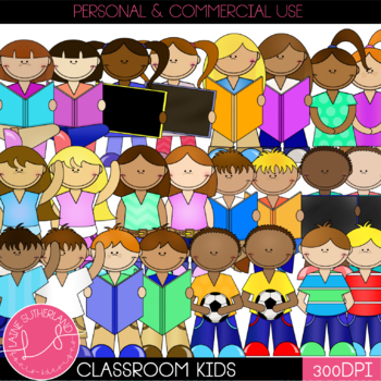 Classroom Kiddles Clip Art
