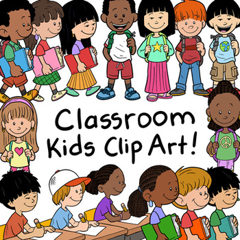 Classroom Kids Clip Art Pack: 30 Items for Commercial Use