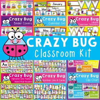 Classroom Decor {Crzy Bug Classroom Theme} Editable