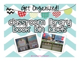 Classroom Library Book Bin Labels