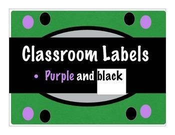 Classroom Label Collection 4