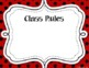 Classroom Label Pack (Editable) - Red  & Black Polka Dots