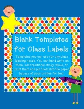 Classroom Label Templates Freebie