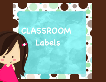 Classroom Labels Aqua Dots