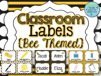 Classroom Labels {Bee Themed}