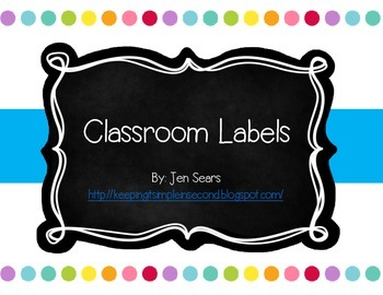Classroom Labels (Dots on White)