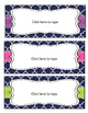 Classroom Labels - EDITABLE - Navy Quatrefoil