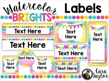 Classroom Labels ~ Editable