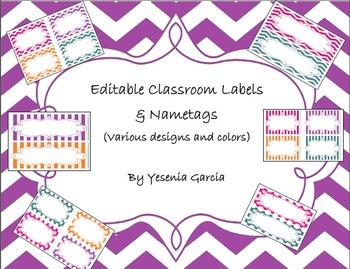 Classroom Labels - Editable (Variety Bundle)