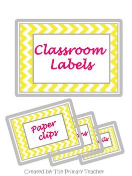 Classroom Labels Freebie