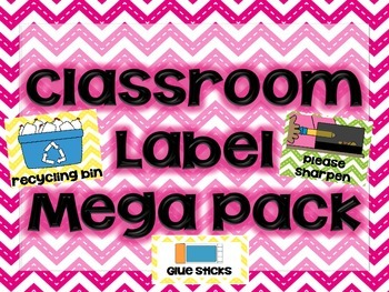 "Chevron Themed ""Classroom Labels Mega Pack"""