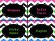 Classroom Labels -Zig Zag pattern
