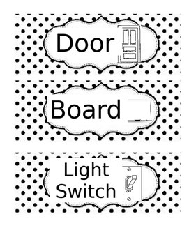Classroom Labels for Special Education