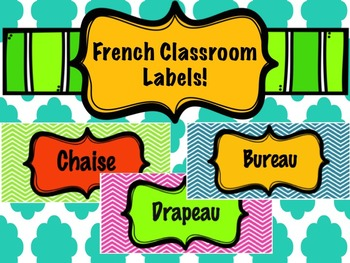 Classroom Labels in French!