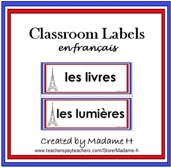Classroom Labels in French