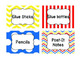 Classroom Labels in Primary Colors
