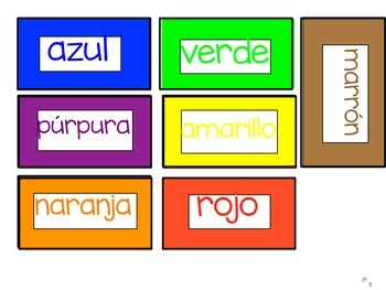 English and Spanish Word Wall