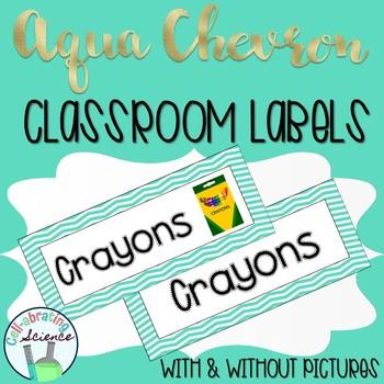 Classroom Labs -- Aqua Chevron
