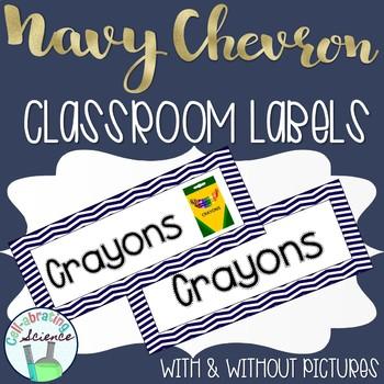Classroom Labs -- Navy Chevron