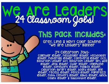 Classroom Leaders - Student Jobs
