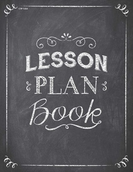 Classroom Lesson Plan Book - Chalk It Up!