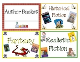 Classroom Library Basket Labels- by genre