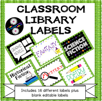 Library Bin Labels Middle Grades