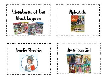 Classroom Library Book Basket Labels Set 1