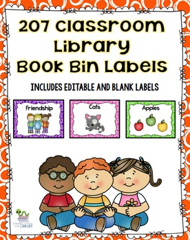 Classroom Library Book Bin/Basket Labels (editable included)