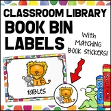 Classroom Library Book Bin Labels - Colorful Polka Dots