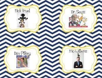 Classroom Library Book Bin Labels Nautical Theme - back to school