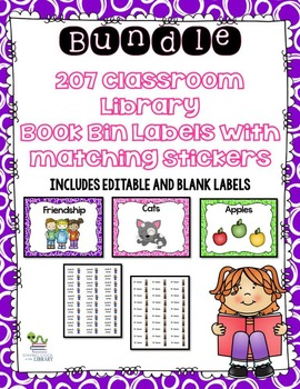 Classroom Library Book Bin Labels and Stickers - Bundle (e